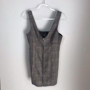 Forever 21 | Glen Plaid Mini Pinafore Dress